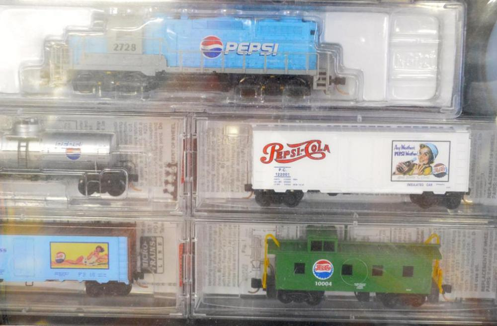 Micro Trains Collectibles N Scale Pepsi Cola Special Edition Table Top Train Set Factory Sealed