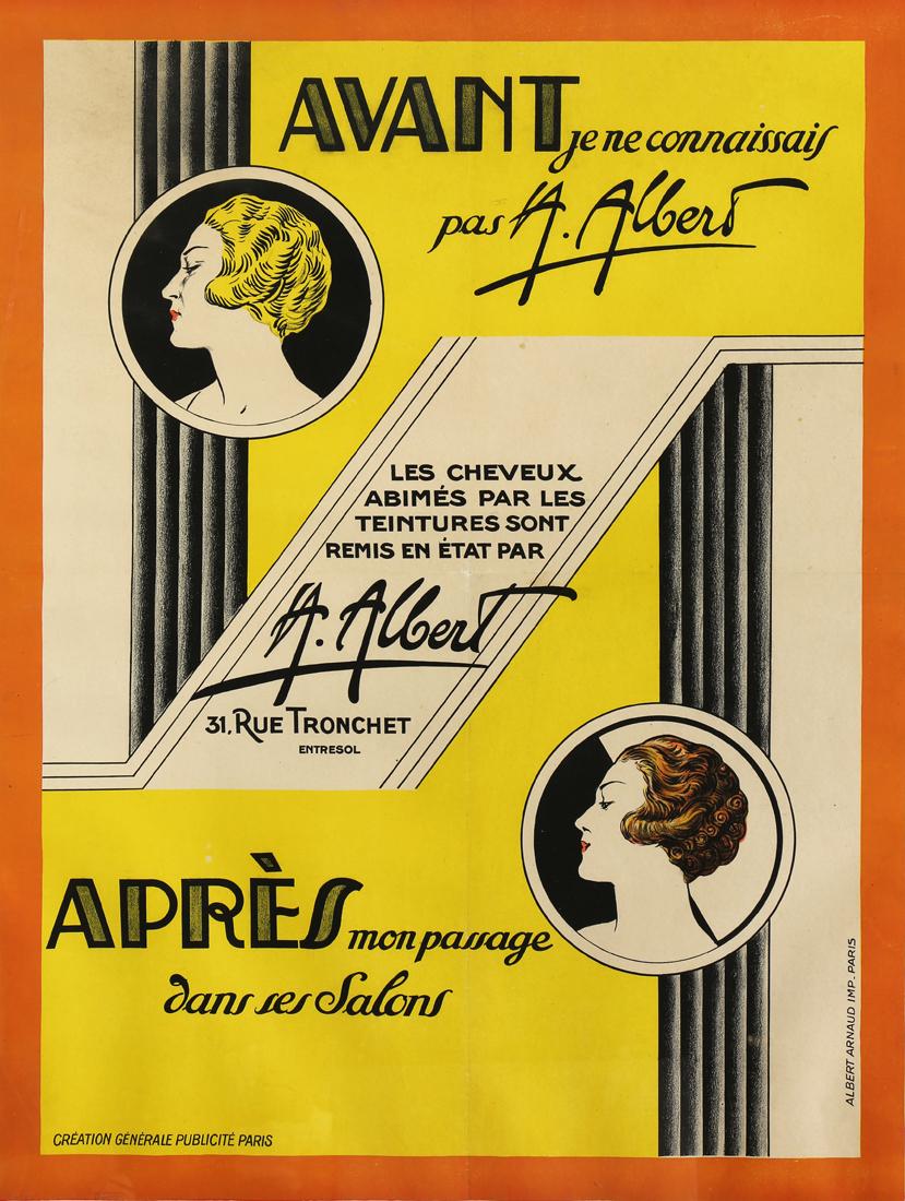 Photo Deco Avant Apres vintage art deco poster, albert arnaud, apres avant