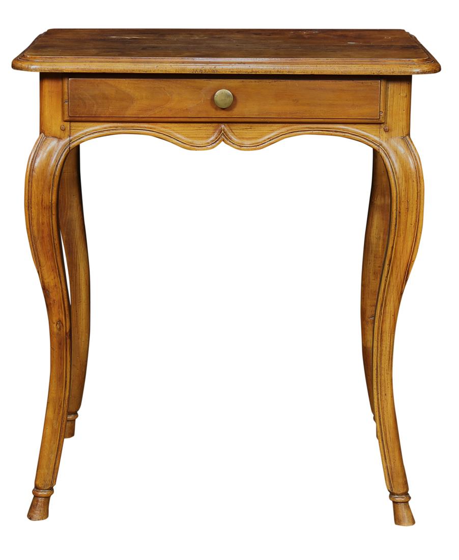 French Louis XV walnut writing table