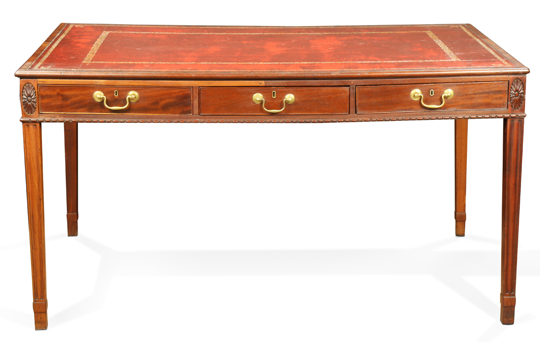 English George III mahogany partner's desk
