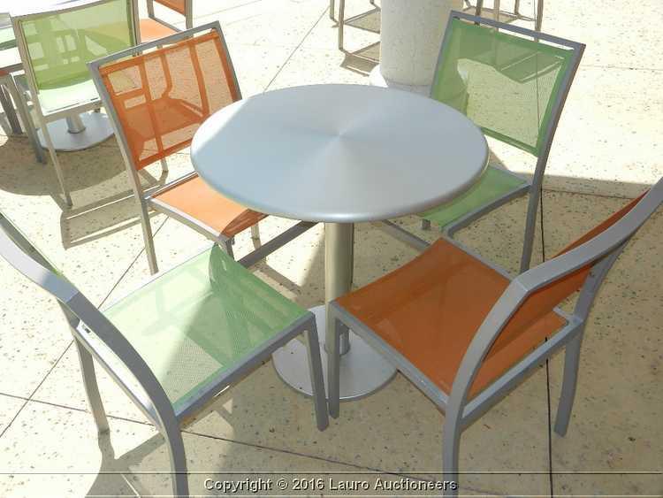 Wondrous 10 Florida Seating Aluminum Outdoor Arm Chairs W Orange Inzonedesignstudio Interior Chair Design Inzonedesignstudiocom