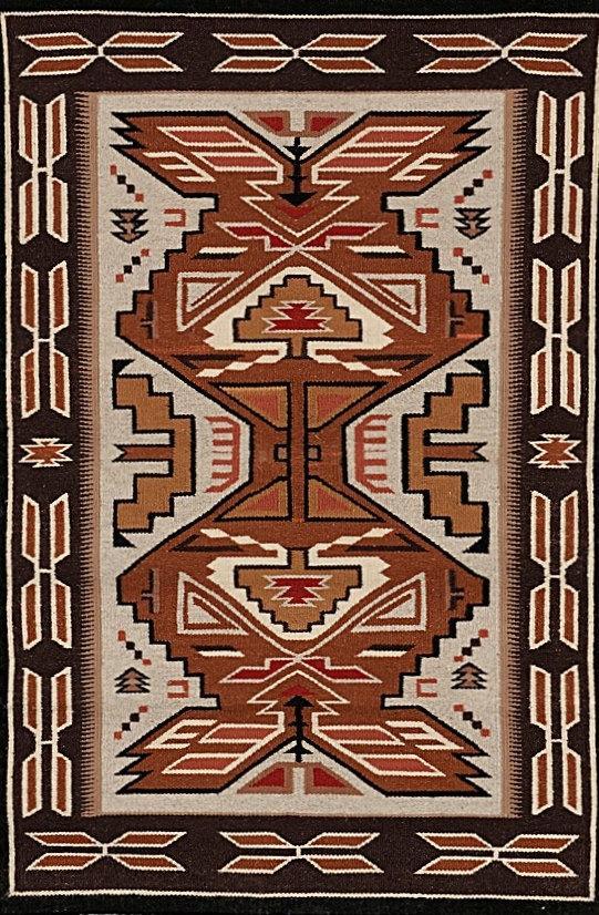 Navajo Rug Teec Nos Pos Weaving Wool Rugs Native American Southwestern Textiles Woven