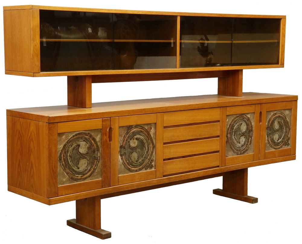Danish Credenza Hutch : Danish modern hutch top credenza by gangso mobler with ox art