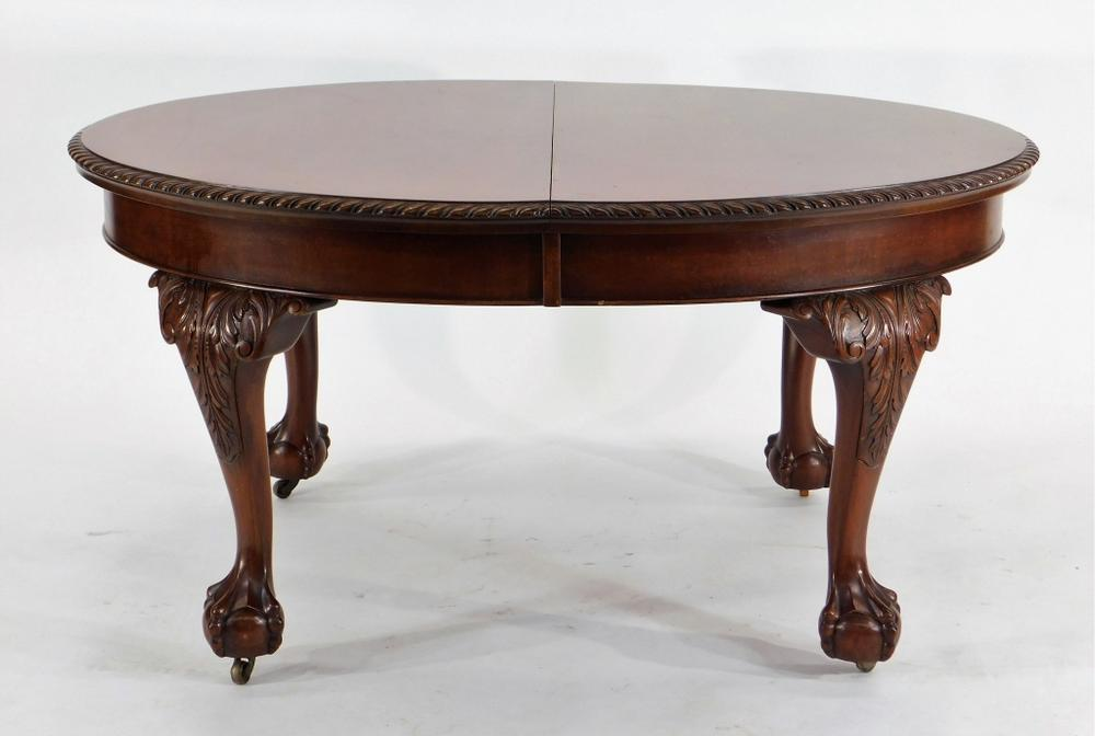 Peachy Robust Mahogany Ball Claw Foot Dining Table Theyellowbook Wood Chair Design Ideas Theyellowbookinfo