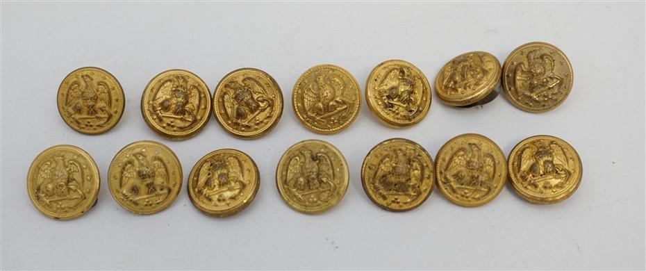14 FEDERAL NAVY BUTTONS EAGLE