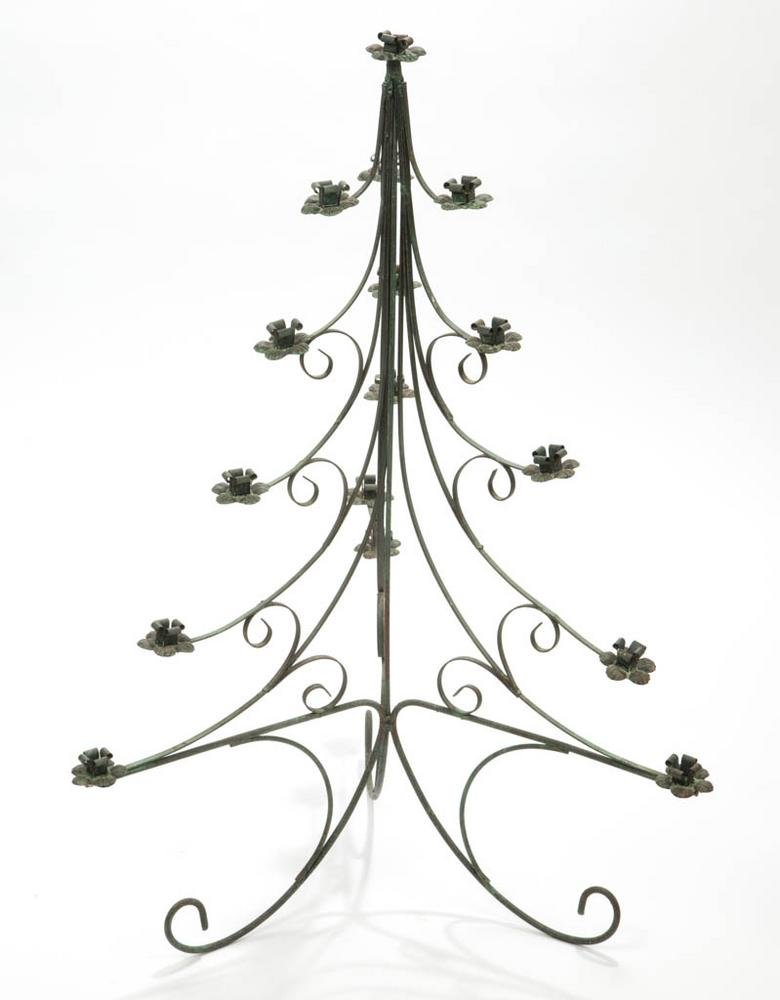 Vintage Metal Christmas Table Top Tree Lofty Marketplace