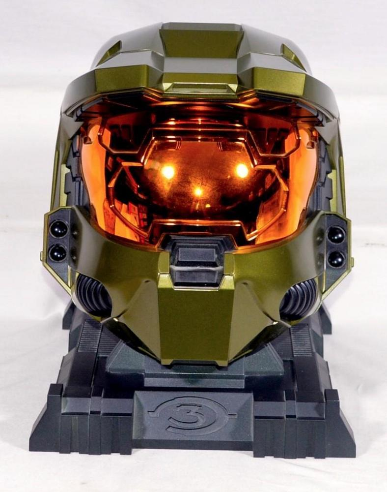 Halo 3 Legendary Edition Master Chief Collectible Helmet With Stand In Original Box No Game