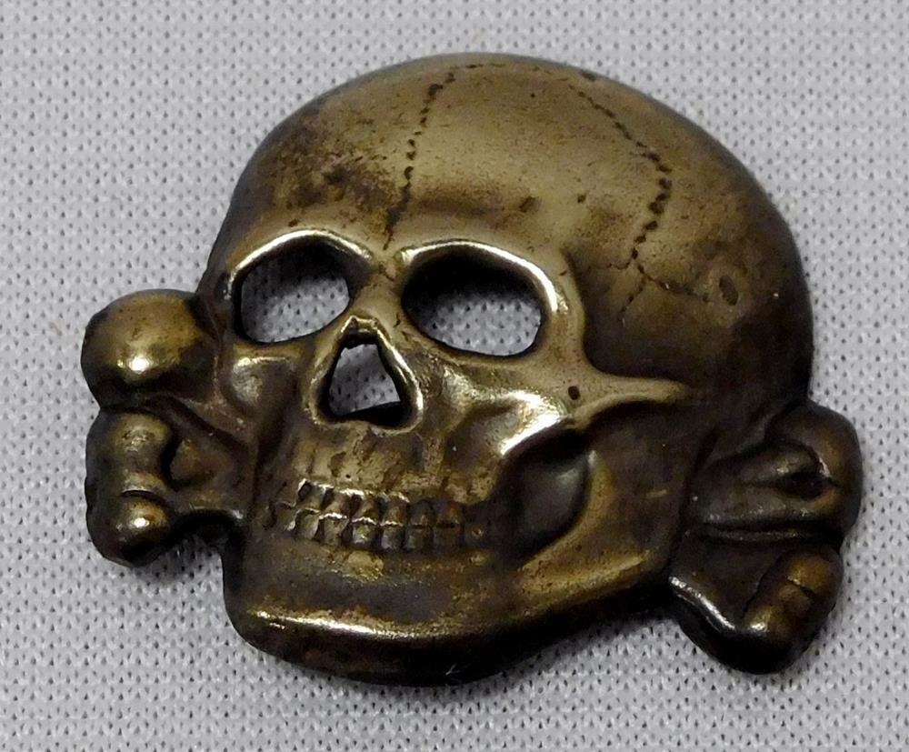 Ww2 german nazi waffen ss totenkopf skull cap pin unmarked lofty marketplace