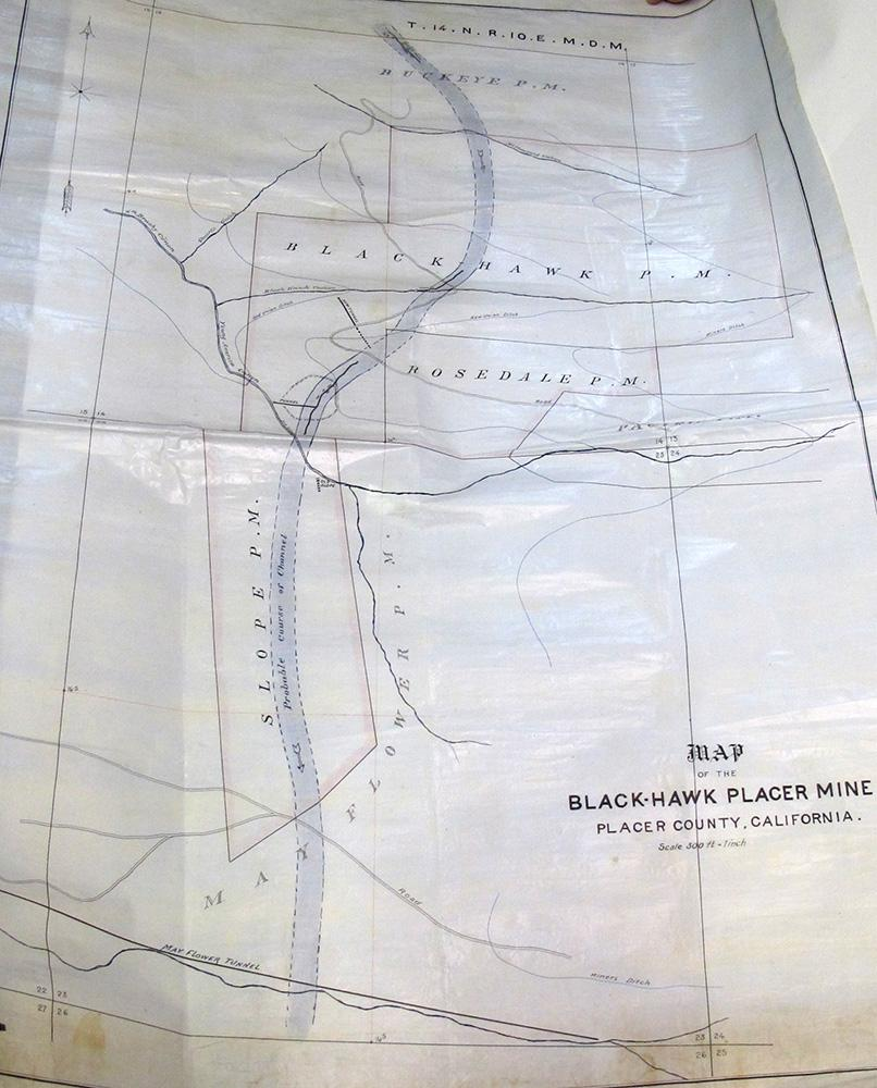 Black Hawk Placer Mine Map, Placer County, California