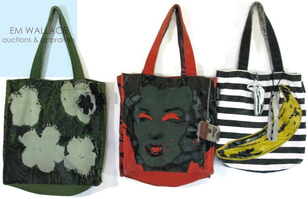Andy Warhol Foundation Silkscreen Bags