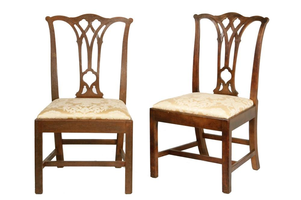 2 Similar American Colonial Chippendale Chairs Lofty Marketplace