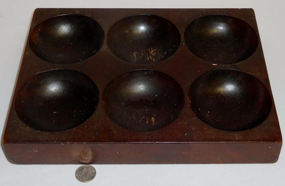 Antique Wooden Till For Cash Register Drawer 6 Bowls Coin Wells Coin Tray