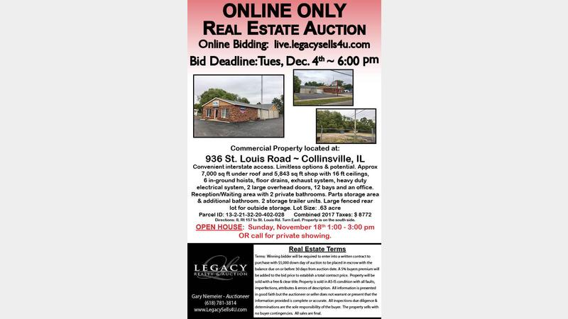 auction flyer 936 st louis rd legacy realty auction