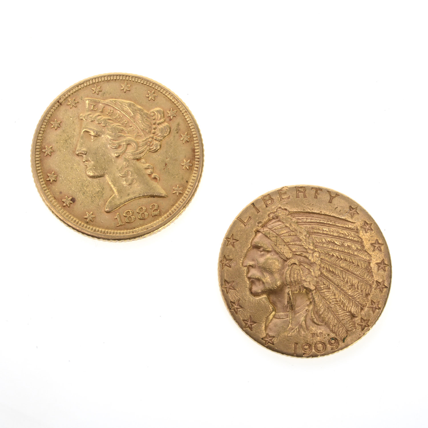 2 American Five Dollar Gold Coins Lofty Marketplace