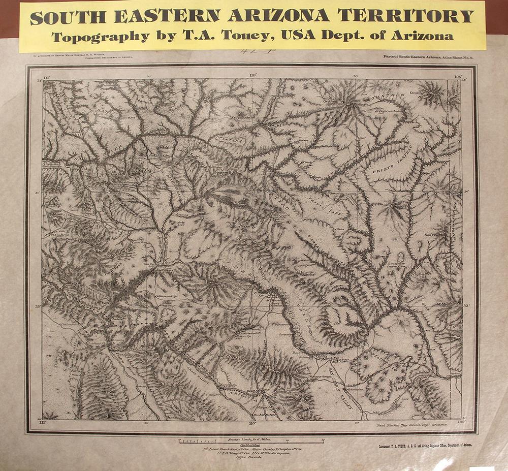 Map Of Eastern Arizona.Map Of South Eastern Arizona Territory Globe City Mining Region