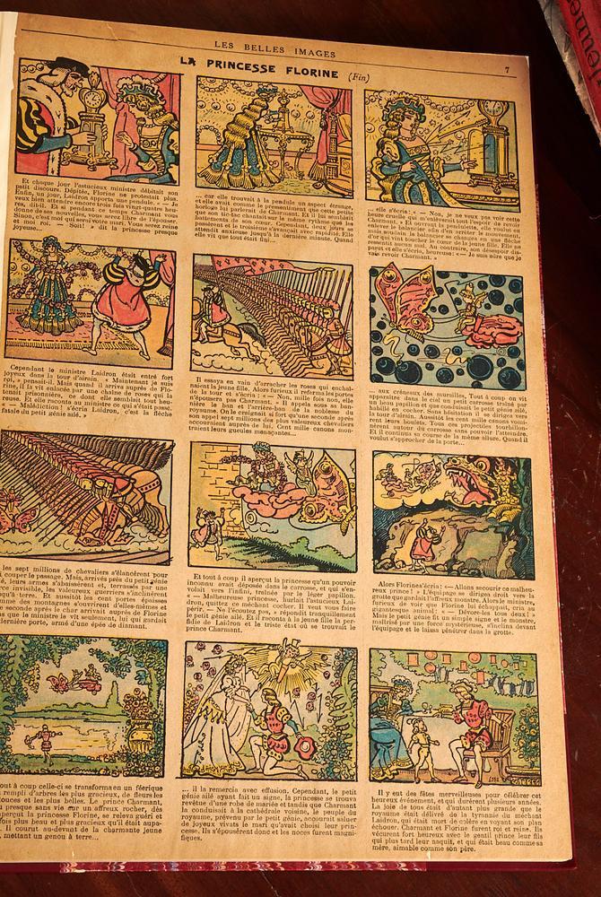 BOOKS: (7) French comics & magazines c  1910s