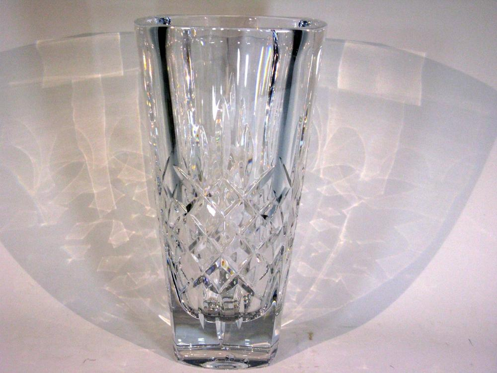 Waterford Crystal Mia Square Vase 11h Lofty Marketplace