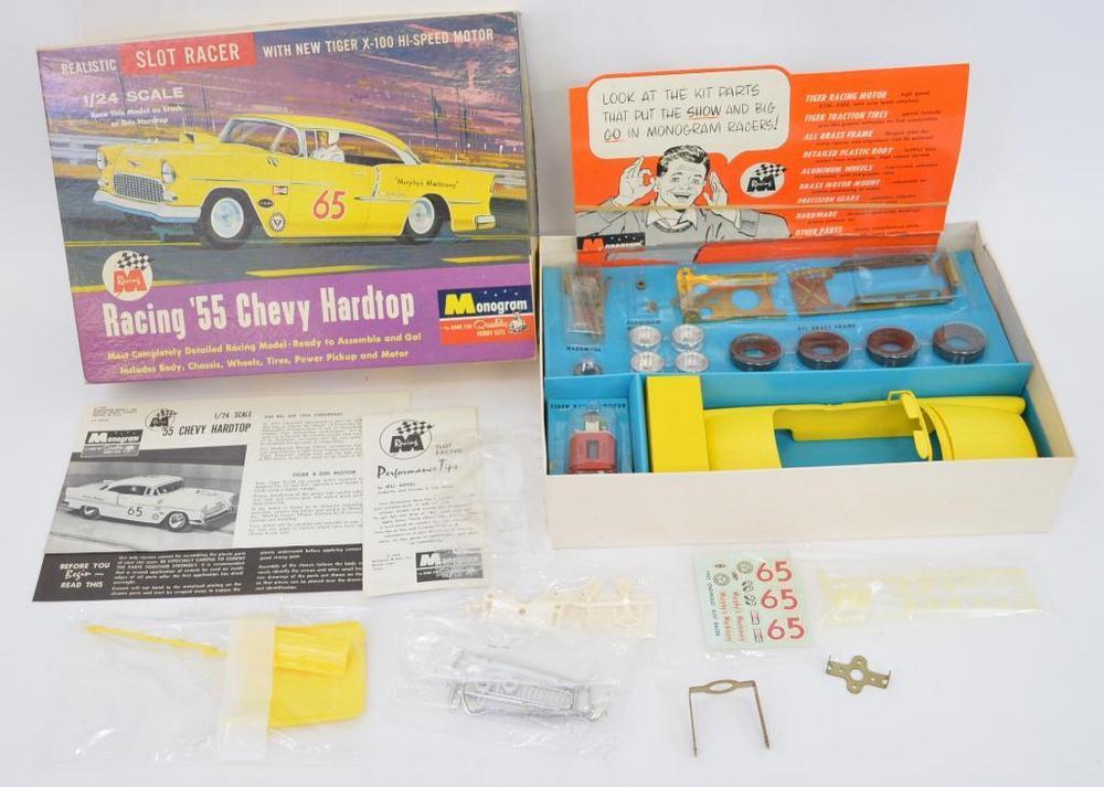 Mint Monogram 1/24 '55 Chevy hardtop slot car kit in original box SR2403-698