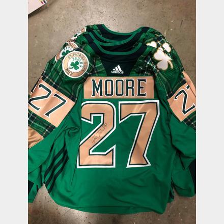 hot sale online bd97d 3a872 John Moore Irish Heritage Night Signed Jersey | Boston ...