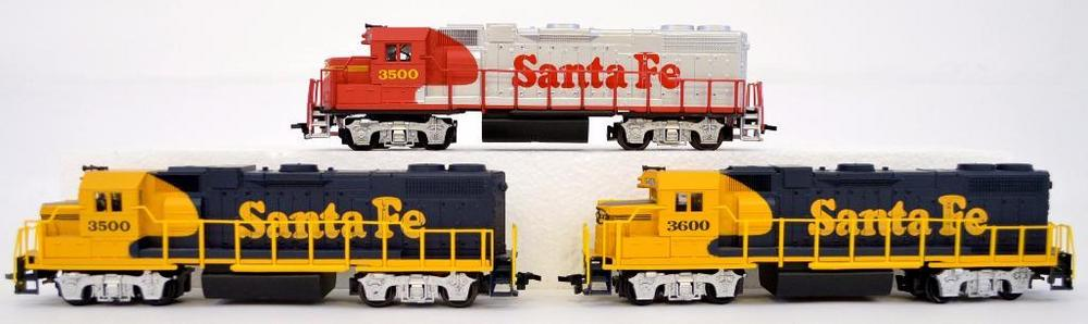 Three Life Like Ho Scale Santa Fe Gp 38 Diesel Locomotives 3500 3500 3 Lofty Marketplace