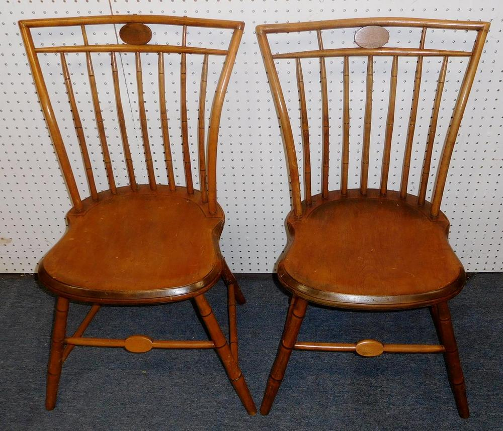Cool Antique Pair Of Early American C 1800 Maple Accent Side Chairs Andrewgaddart Wooden Chair Designs For Living Room Andrewgaddartcom
