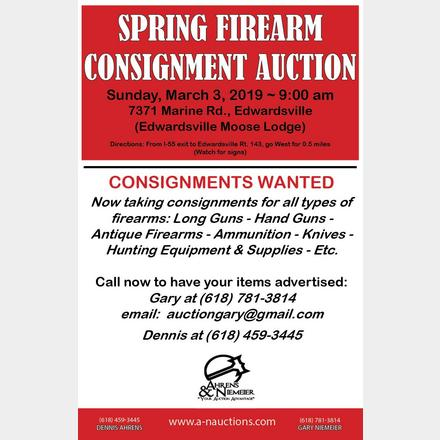 SPRING FIREARM SALE FLYER | Ahrens & Niemeier