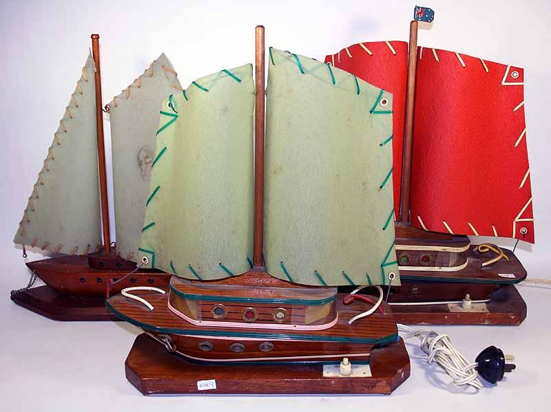 Magnificent Three Vintage Wigzell Ship Table Lamps Home Remodeling Inspirations Gresiscottssportslandcom