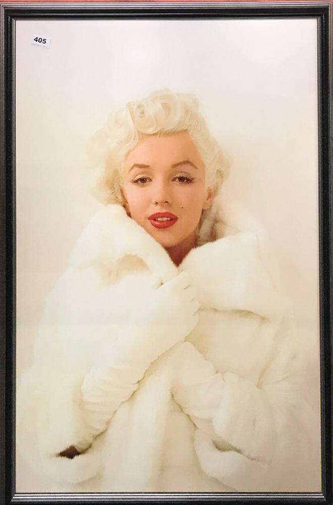 A large framed print of Marilyn Monroe, 67 x 97cm. – Lofty Marketplace