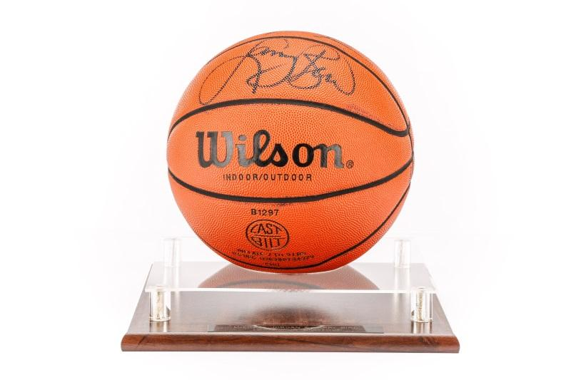 san francisco 5caa2 66af5 Michael Jordan & Larry Bird Signed Basketball