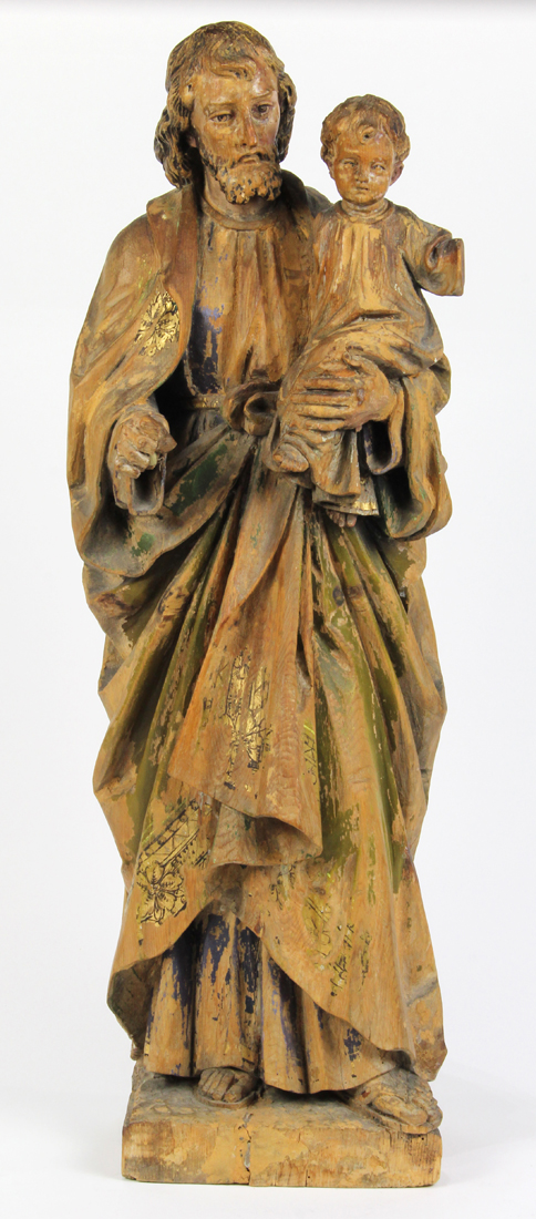 German carved wood figure