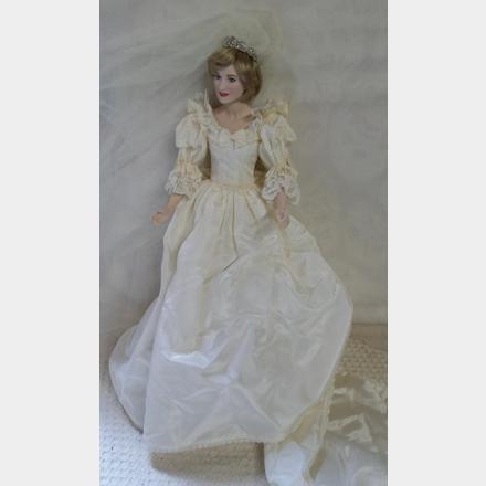 Porcelain Doll Prototype-Princess Diana wedding gown   Unique Vintique
