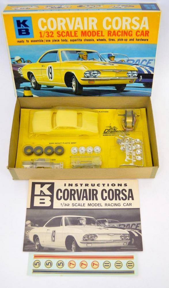 Mint K&B 1/32 Corvair Corsa slot car kit in OB 1828:600