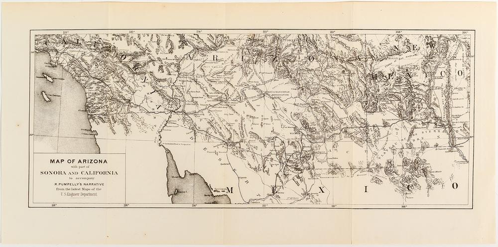 Sonora Arizona Map.Arizona Map With Parts Of Sonora And California Lofty Marketplace
