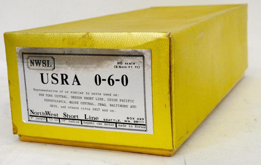 NWSL HO brass USRA 0-6-0 steam locomotive in original box