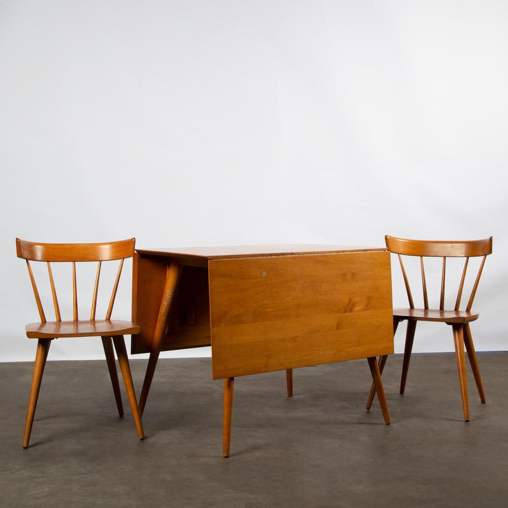 Paul Mccobb Planner Group Table And Two Chairs