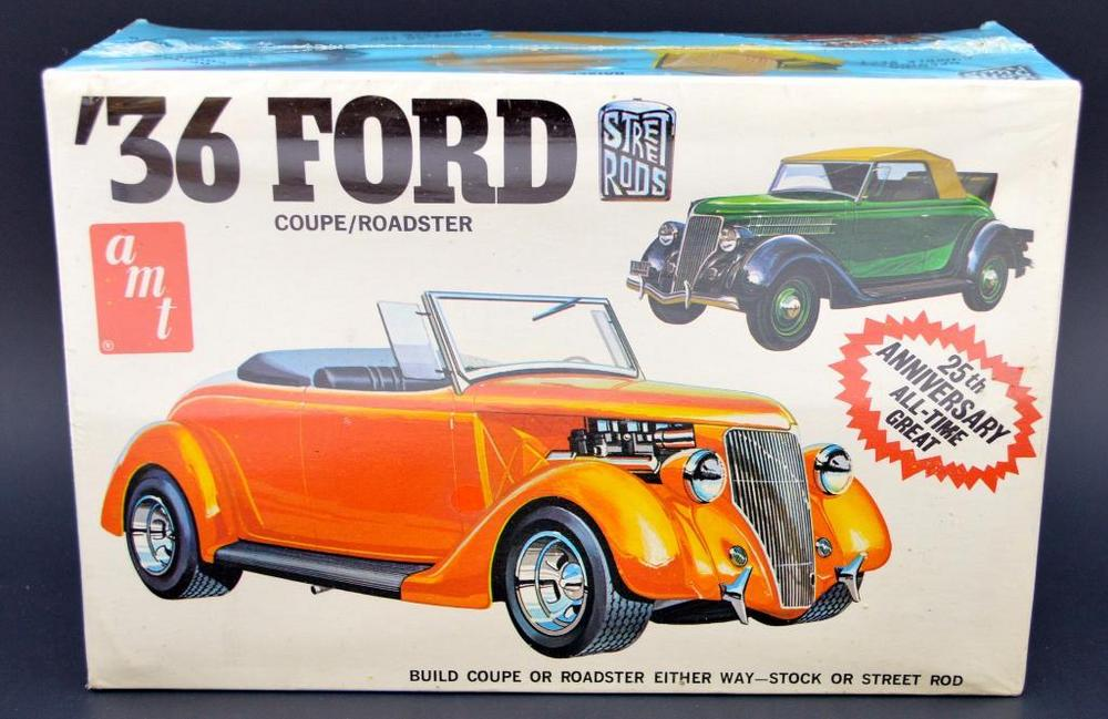 Mint sealed AMT T145 Street Rods \'36 Ford coupe / roadster 1/25 ...