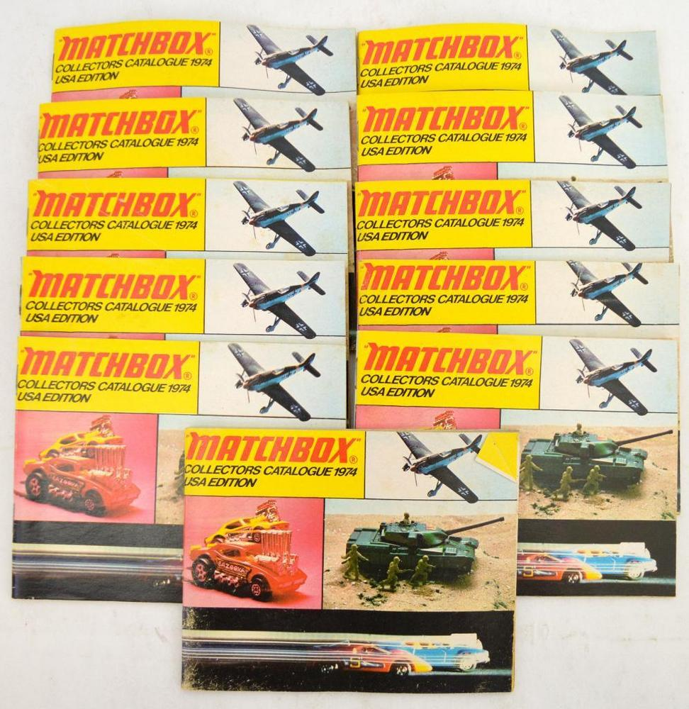 Group of eleven 1974 Lesney Matchbox NOS unused Catalogs
