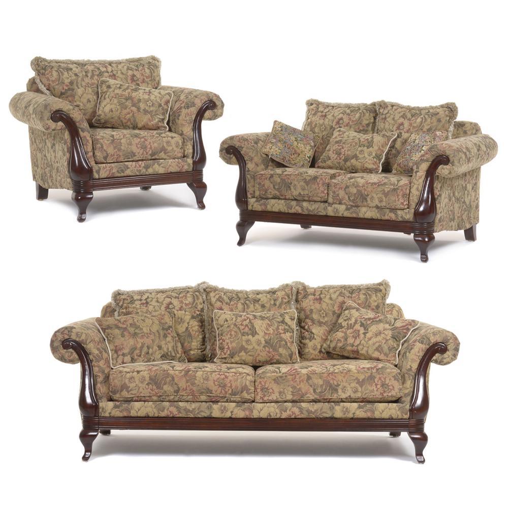 Sala. México. Siglo XX. Marca Muebles Boal. En madera. Con tapicería ...