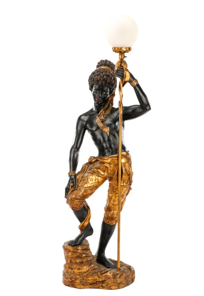 Figural Blackamoor Torchiere Floor Lamp, ARP – Lofty Marketplace