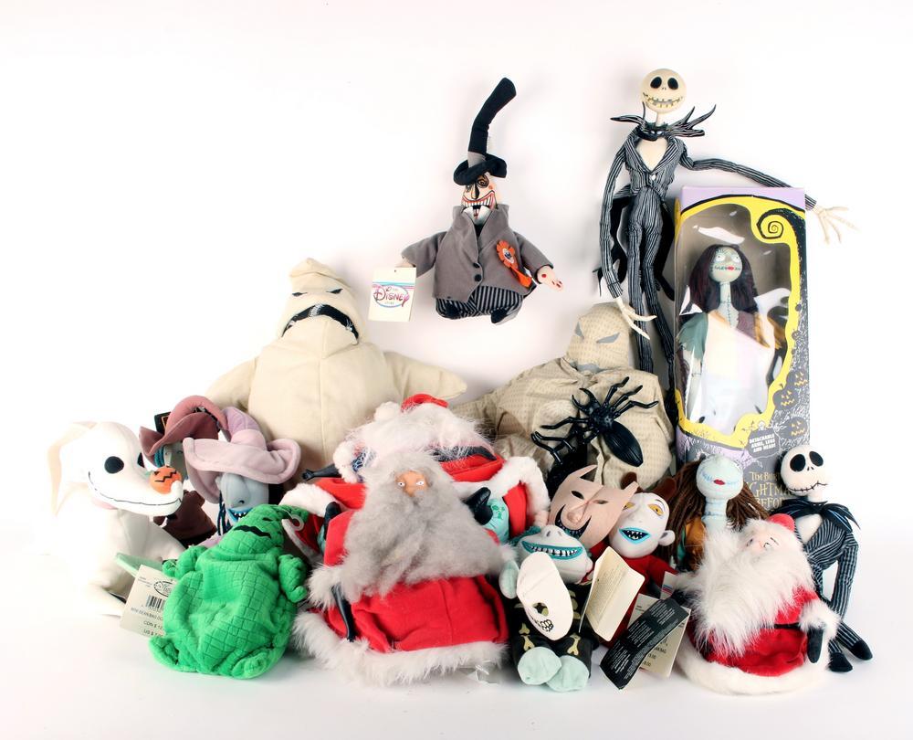 LOT OF NIGHTMARE BEFORE CHRISTMAS PLUSH TOYS – Lofty Marketplace