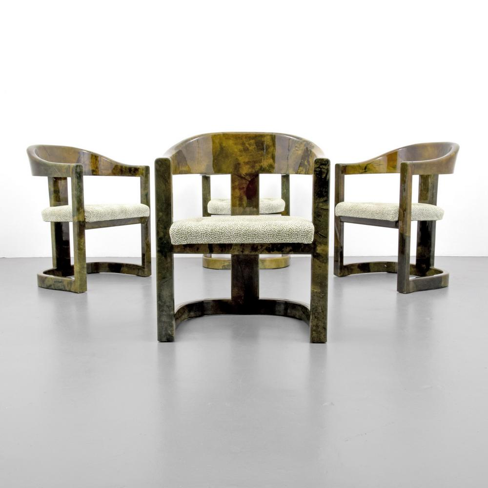 Karl Springer Onassis Chairs Set Of 4