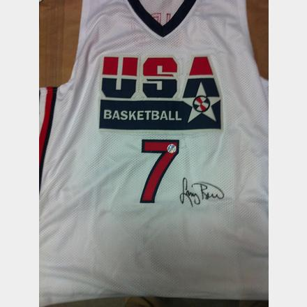 uk availability fdb39 5ccc3 Larry Bird Signed Replica Dream Team Jersey | Boston Bruins ...