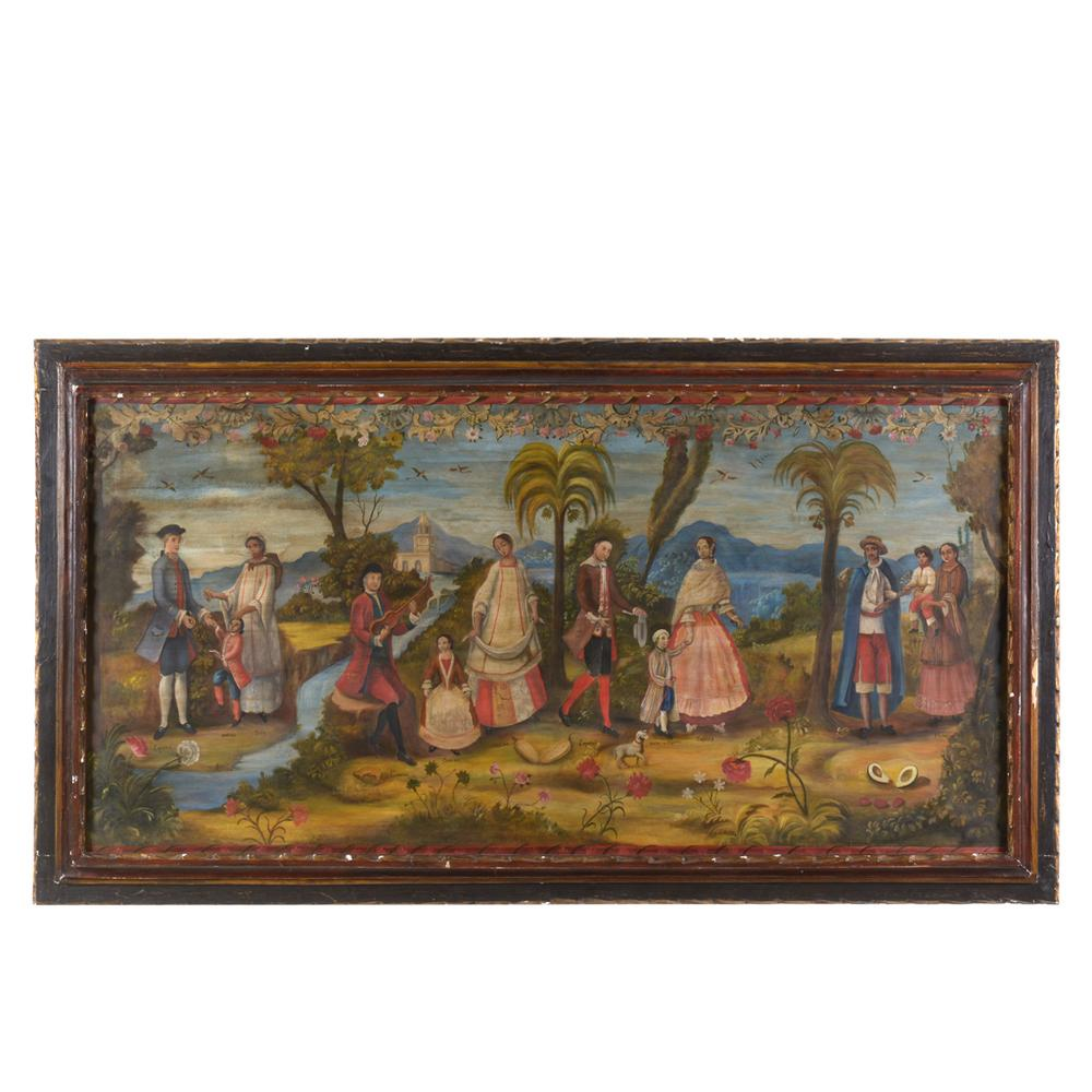 Anónimo. Siglo XX. Pintura de castas. Óleo sobre tela. Inspirado en ...