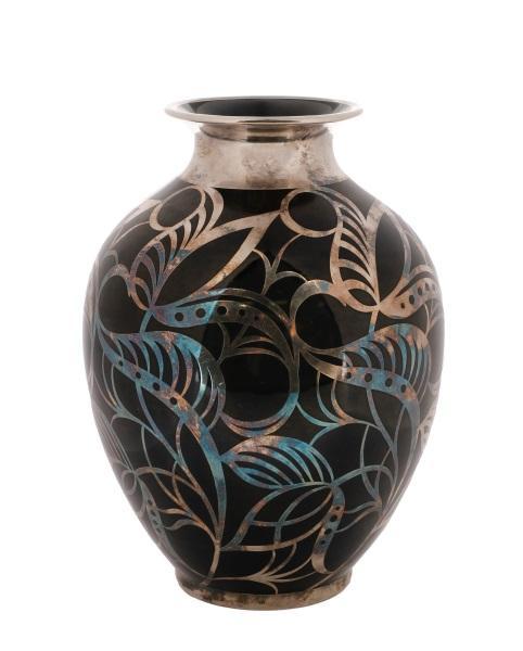 Spahr For Krautheim Adelberg Silver Overlay Vase Lofty Marketplace