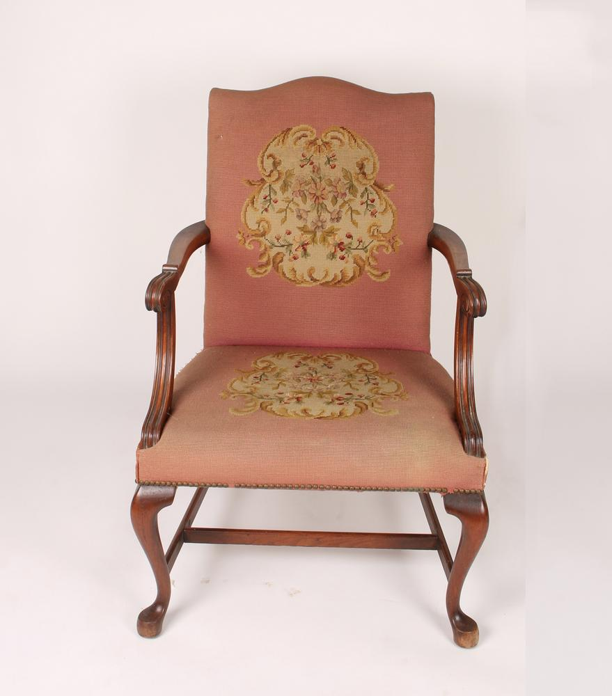 Upholstered Queen Anne Arm Chair Lofty Marketplace