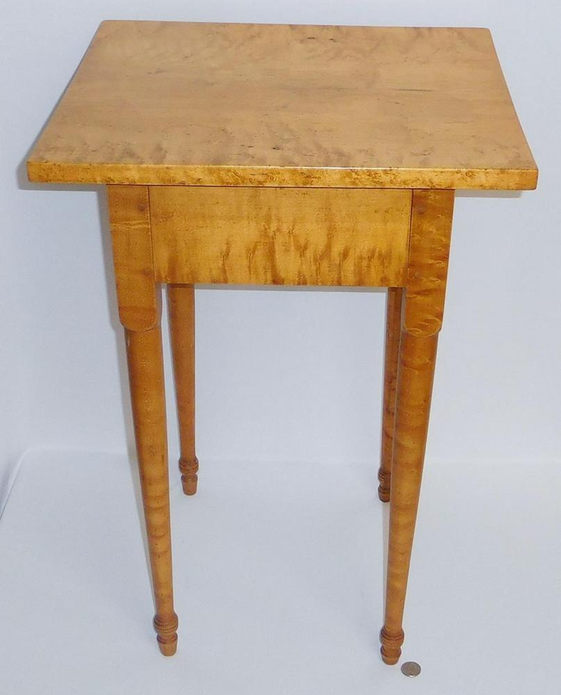 1820 Tiger Birdseye Maple Small Table