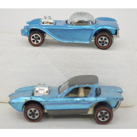 Two Mattel Redline Hot Wheels Python and Beatnik Bandit