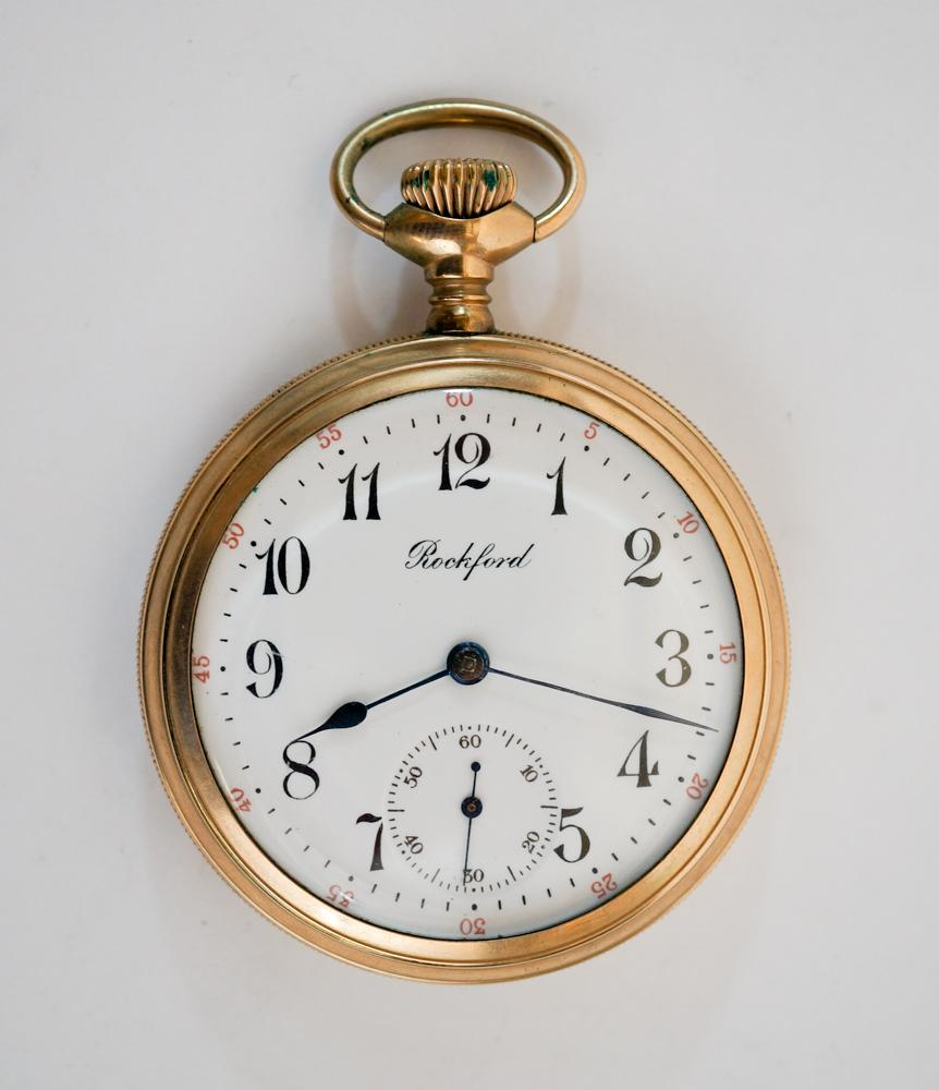 1161e8be3da53 Rockford Gold Filled Hunter's Case Pocket Watch