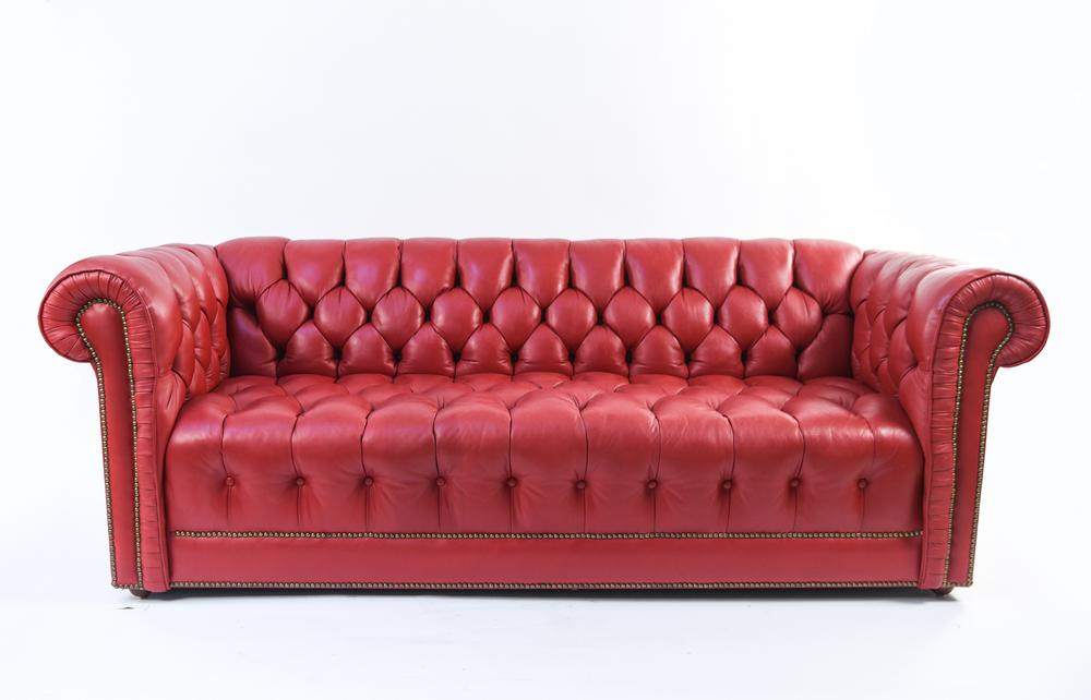 Swell Red Leather Chesterfield Sofa Bralicious Painted Fabric Chair Ideas Braliciousco