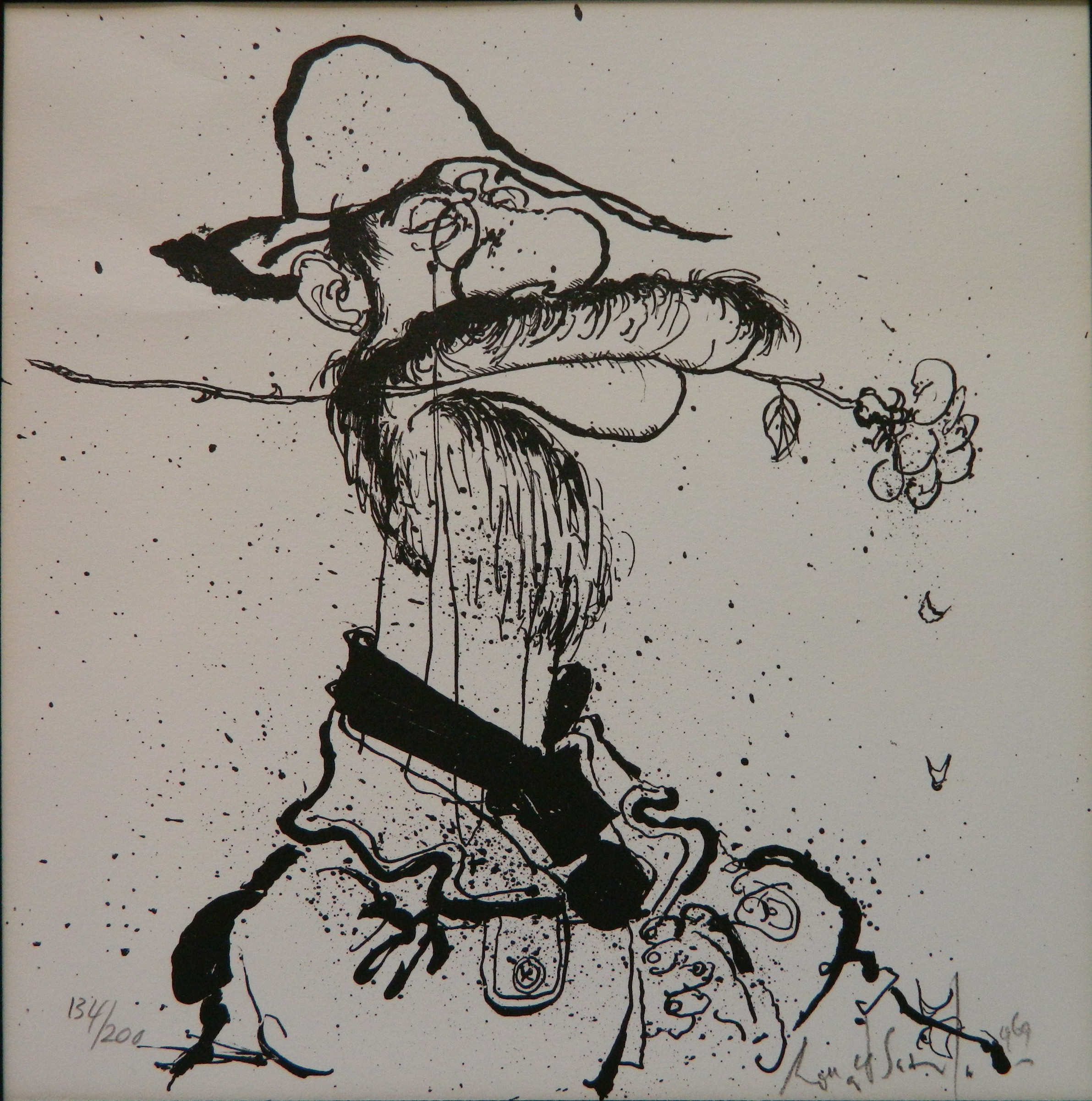 Ronald Searle lithograph
